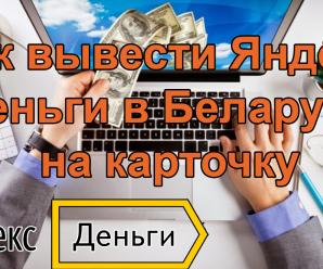 Как вывести Яндекс деньги на карточку в Беларуси